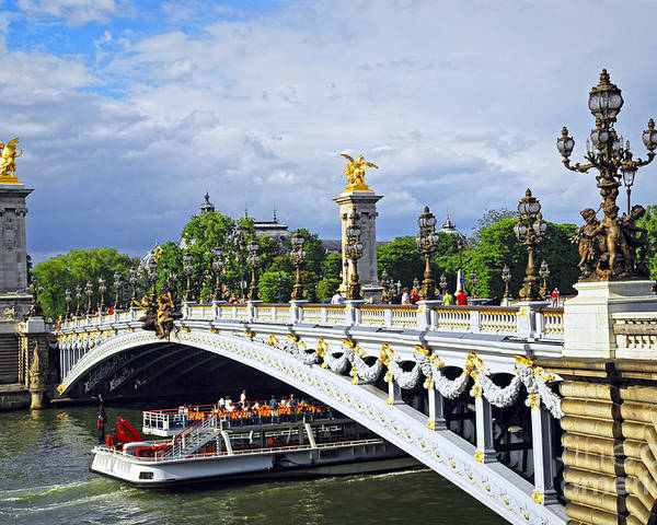 Bridge Poster featuring the photograph Pont Alexander IIi by Elena Elisseeva