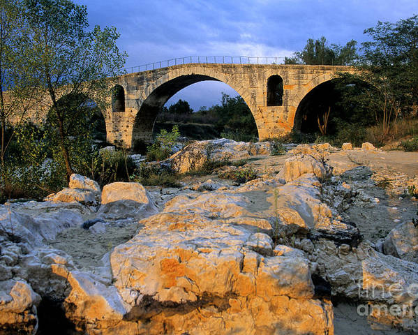 France Poster featuring the photograph Pont Julien. Luberon. Provence. France. Europe by Bernard Jaubert