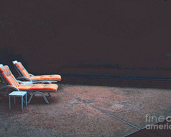 Lounge Chairs Poster featuring the photograph Pool Chairs by David Klaboe