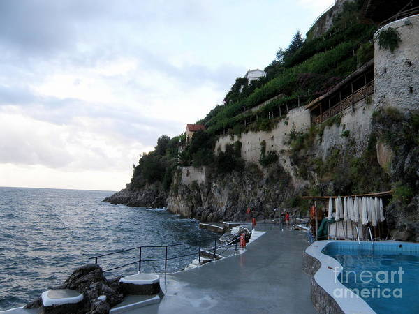 Santa Caterina Poster featuring the photograph Pool In The Amalfi Santa Caterina Hotel by Tanya Searcy