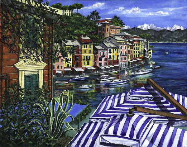 Portofino Poster featuring the painting Portofino by Lisa Reinhardt