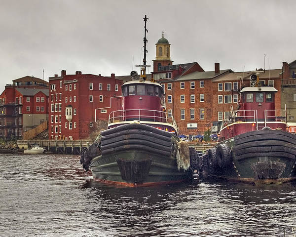 Tug Boats Poster featuring the photograph Portsmouth Tugs by Joann Vitali