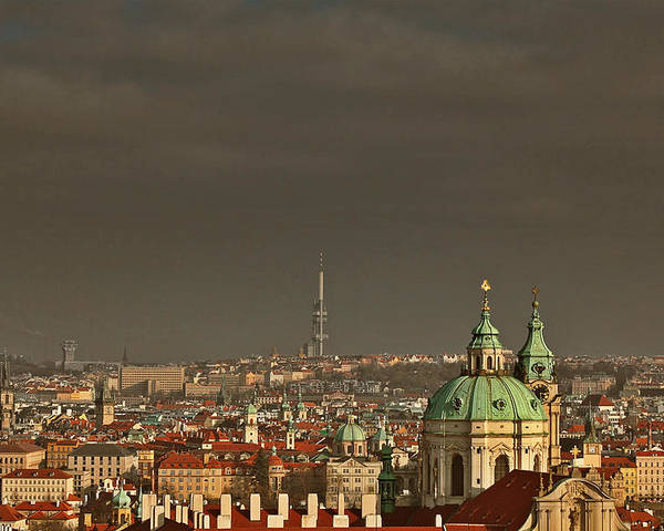 Roofs Poster featuring the photograph Prague - A Symphony In Stone by Christine Till