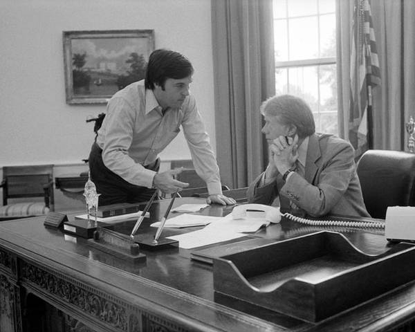 History Poster featuring the photograph President Carter And His Chief Of Staff by Everett