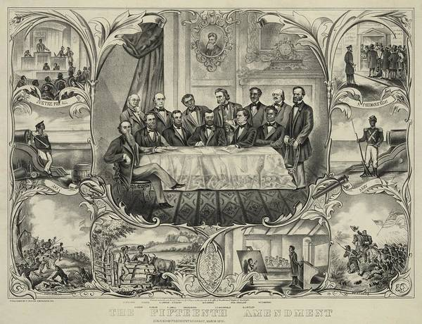 History Poster featuring the photograph President Grant With Group Of Men by Everett
