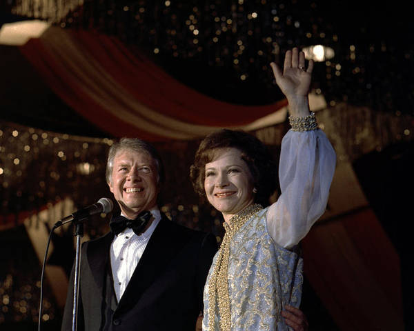 1970s Candids Poster featuring the photograph President Jimmy Carter And First Lady by Everett