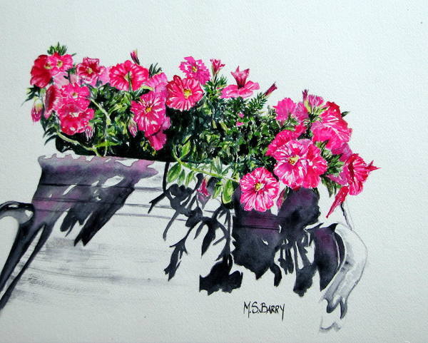 Pink Flowers Poster featuring the painting Pretty In Pink by Maria Barry
