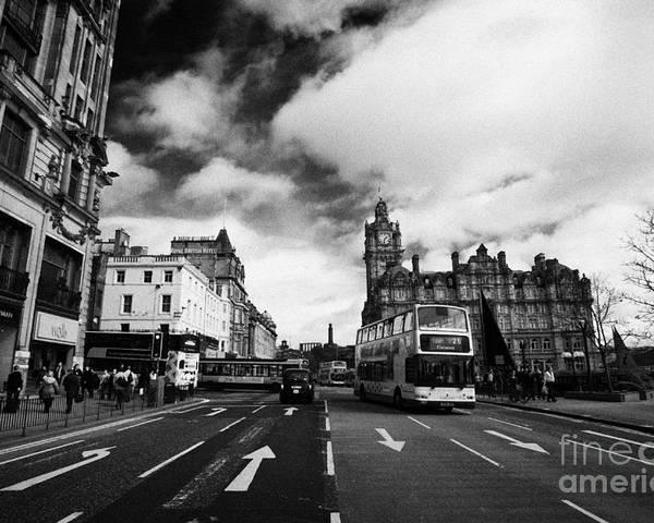 Princes Poster featuring the photograph Princes Street Edinburgh Scotland by Joe Fox