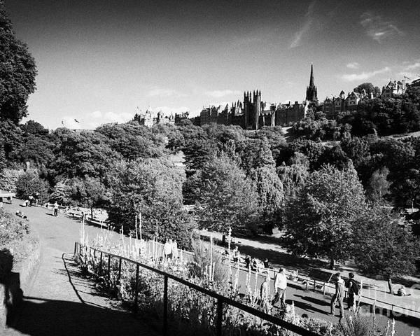 Princes Poster featuring the photograph Princes Street Gardens Edinburgh Scotland Uk United Kingdom by Joe Fox