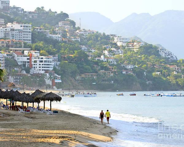 Beach Poster featuring the photograph Puerto Vallarta Beach by Elena Elisseeva