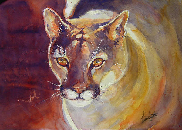 Puma Poster featuring the painting Puma by Victoria Wills