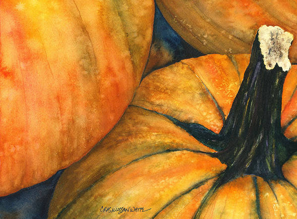 Punkin Poster featuring the painting Punkin by Casey Rasmussen White