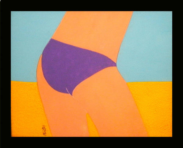Acrylic Poster featuring the painting Purple Bikini by Anneliese Fritts