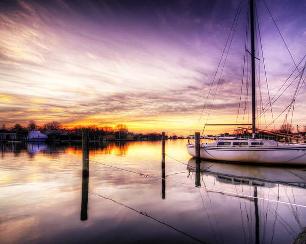 Sunrise Poster featuring the photograph Purple Sunrise by Vicki Jauron