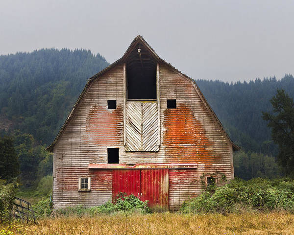 Barn Poster featuring the photograph Put On A Happy Face by Debra and Dave Vanderlaan