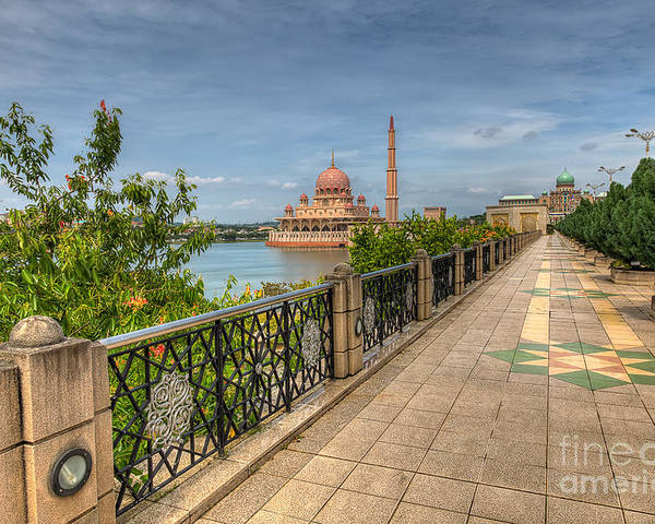 Mosque Poster featuring the photograph Putrajaya Lake by Adrian Evans