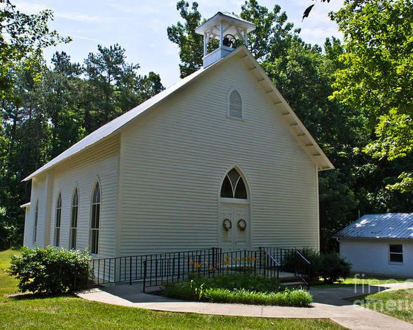 Scott Poster featuring the photograph Quaker Church by Scott Hervieux