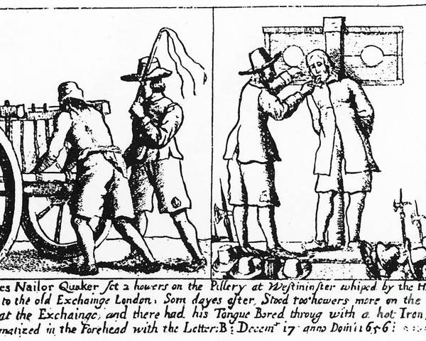 1656 Poster featuring the photograph Quaker Persecution by Granger
