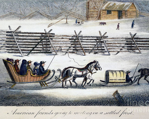 1811 Poster featuring the photograph Quakers by Granger