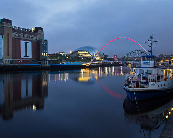 River Tyne Poster featuring the photograph Quayside Landmarks by David Pringle
