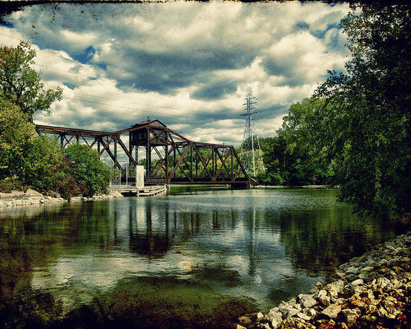 Bridge Poster featuring the photograph Rail Swing Bridge by Joel Witmeyer