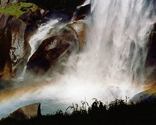 Vernal Falls Poster featuring the photograph Rainbow Under Vernal Falls 2 by Amelia Racca