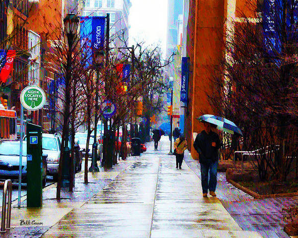 Rainy Day Feeling Poster featuring the photograph Rainy Day Feeling by Bill Cannon