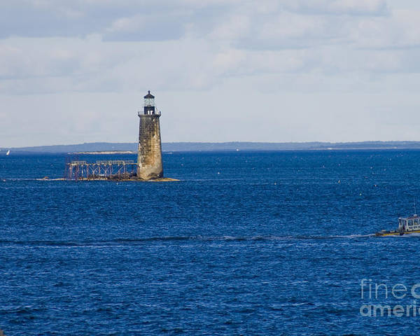 Lighthouse Poster featuring the photograph Rams Island Ledge Light by Tim Mulina