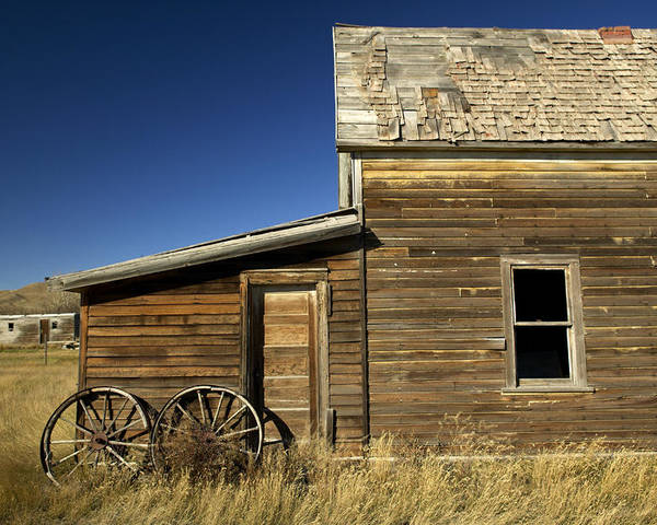 Day Poster featuring the photograph Ranchers House In Prairie Semi-ghost by Pete Ryan
