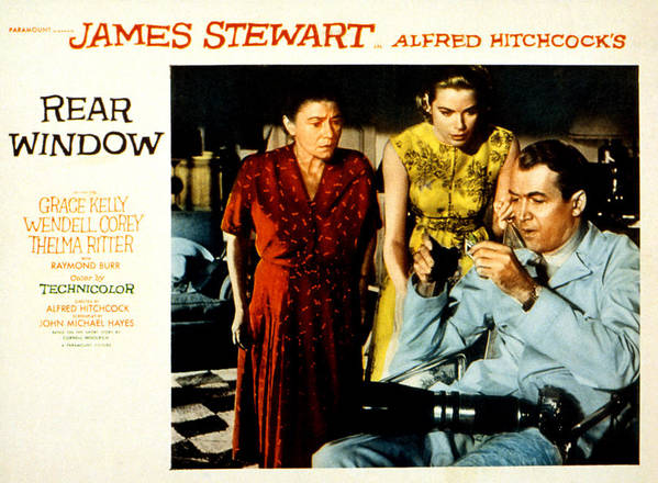 1950s Movies Poster featuring the photograph Rear Window, Thelma Ritter, Grace by Everett