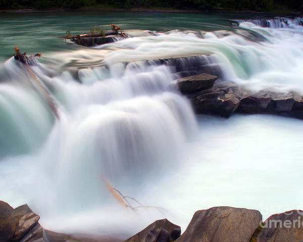 British Columbia Poster featuring the photograph Rearguard Falls by Terry Elniski
