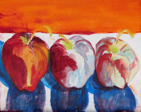 Apples Poster featuring the painting Red Apples by Suzanne Willis