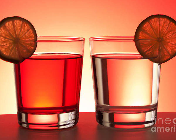 Drink Poster featuring the photograph Red Drinks by Blink Images
