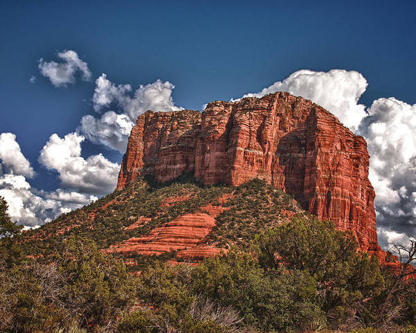 Lanscape Poster featuring the photograph Red Rock Country Sedona Az by James Bethanis
