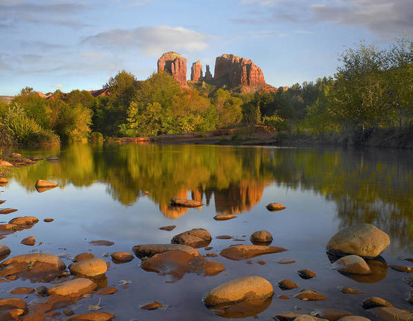 00486981 Poster featuring the photograph Red Rock Crossing Arizona by Tim Fitzharris