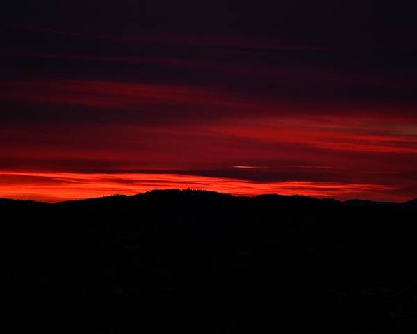 Sunset Poster featuring the photograph Red Velvet Sky by Kevin Bone
