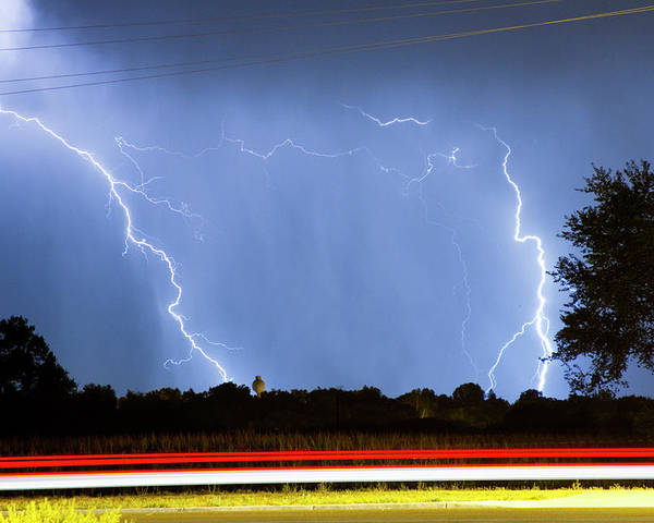 Thunderstorms Poster featuring the photograph Red White And Blue by James BO Insogna