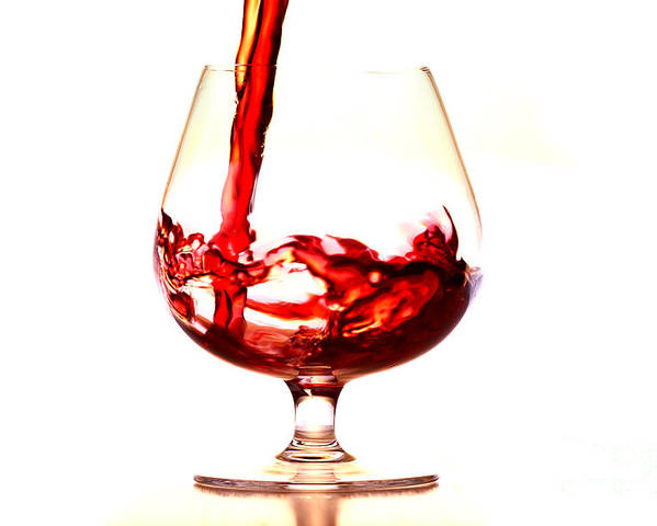 Glass Poster featuring the photograph Red Wine by Michal Boubin