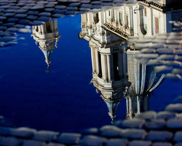 Reflection Of Rome Poster featuring the photograph Reflections Of Rome by Steven Cozort