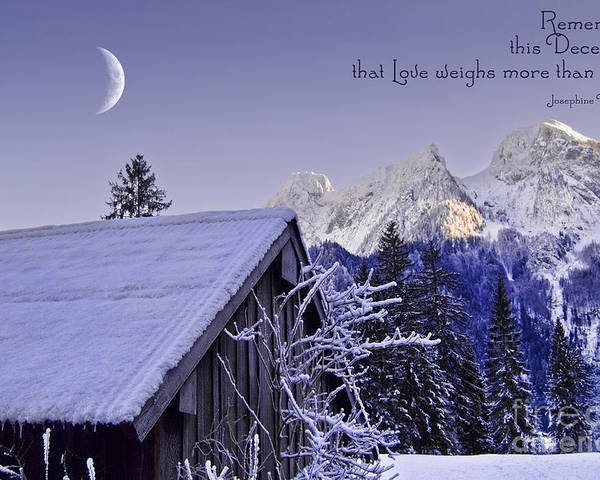 Winter Poster featuring the photograph Remember This December by Sabine Jacobs