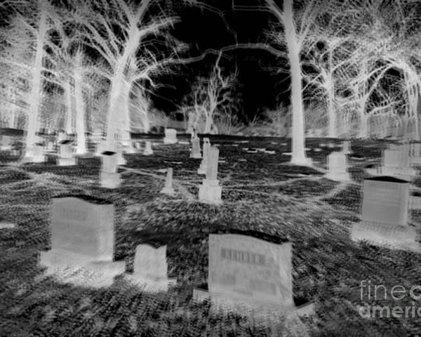 Grave Yard Poster featuring the photograph Resting Place by Stephany Knight