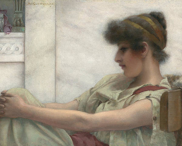 Reverie Poster featuring the painting Reverie by John William Godward