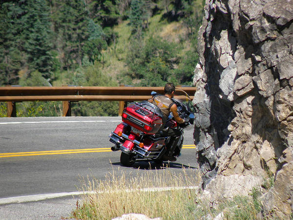 Bikers Poster featuring the photograph Riding The San Juans by FeVa Fotos