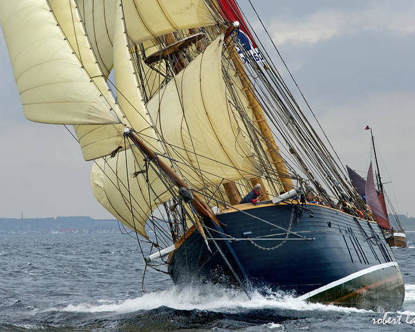 Sailing Ship Poster featuring the photograph Riding The Wind by Robert Lacy