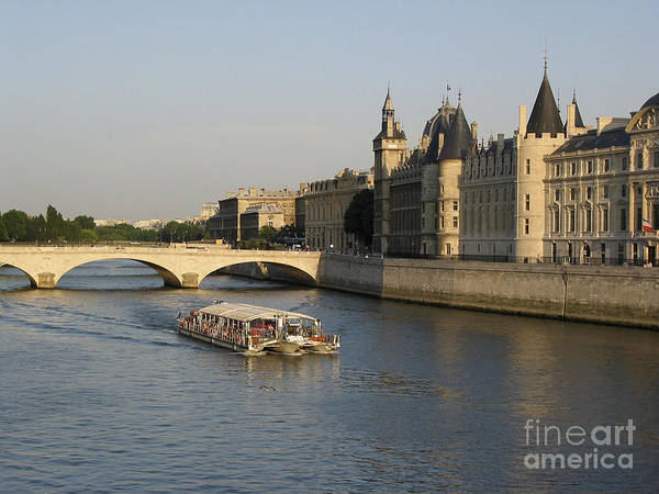 Architecture Poster featuring the photograph River Seine And Conciergerie. Paris by Bernard Jaubert
