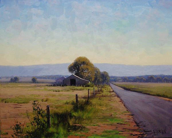 Farm Poster featuring the painting Road To Richmond by Graham Gercken