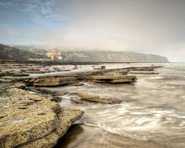 Abcde Poster featuring the photograph Robin Hood's Bay Mist by Chris Frost