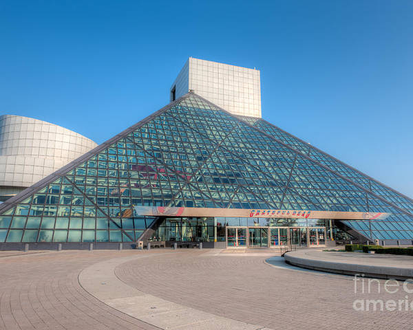 Clarence Holmes Poster featuring the photograph Rock And Roll Hall Of Fame II by Clarence Holmes