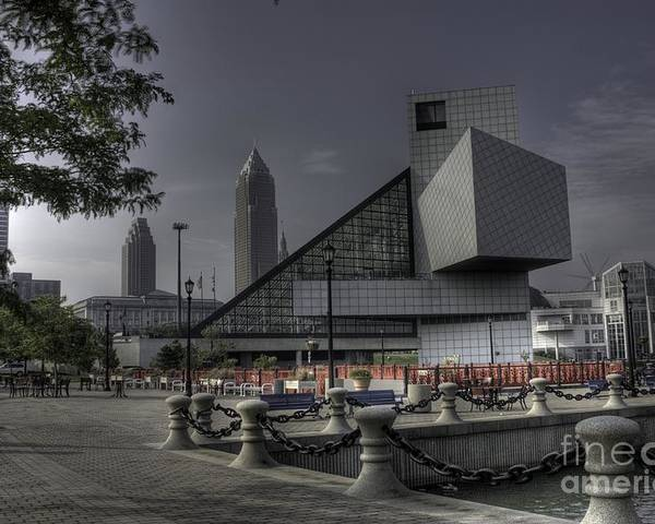 Hdr Poster featuring the photograph Rocking Hall Of Fame by David Bearden