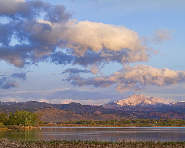Longmont Poster featuring the photograph Rocky Mountain Early Morning View by James BO Insogna